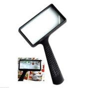 Large Reading 4x Magnifying Glass Magnifier Map Book Pocket Light Aid Lens Lense