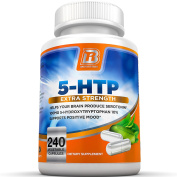 BRI Nutrition 5-HTP - 240 Count 100mg 5 HTP Veggie Capsules - Helps to Improve Your Overall Mood, Relaxation, Sleep & Increases Appetite Contro