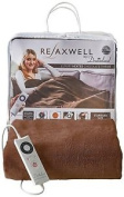 Relaxwell By Dreamland Luxury Heated Chocolate Throw, Brown