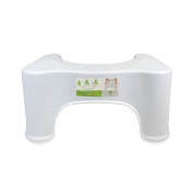 White Toilet Stool, Bathroom Squat Potty For Natural & Comfortable Aid, Train...