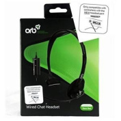 Official Orb Wired Chat Headset For Microsoft Xbox One X1 Black