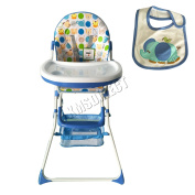 Foxhunter Portable Baby High Chair Infant Child Folding Feeding Seat Blue Bhc02