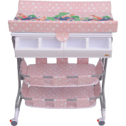 Homcom Baby Changing Table Unit Changing Station Storage Trays And Bath With