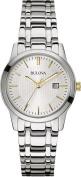 Bulova Ladies 98m121 Stainless Steel Multi Link Bracelet Dress Watch -