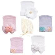 RareLove Newborn Hospital Hats Baby Bonnets Set for Preemie Baby Girls Boys