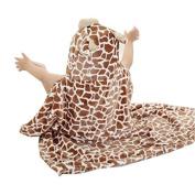BININBOX Baby Hooded Towel Soft Bath For Infant Toddler Kids Girls Pretty Flannel Cloak Blanket