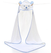 BININBOX Baby Hooded Towel Soft Bath For Infant Toddler Kids Girls Pretty Pure Cotton Cloak Blanket Dog