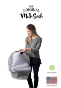 """AS SEEN ON SHARK TANK The Original Milk Snob Infant Car Seat Cover and Nursing Cover Multi-Use 360° Coverage Breathable Stretchy """"Navy Stripe"""""""