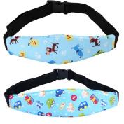 2Pcs Infants and Baby Car Seat Sleep Positioner Baby Head Support Pram Stroller Belt Adjustable Safety Seats Doze Sleep Harness Sleeping Artefact