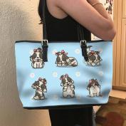 VOTANTA - Shih Tzu Tote Bag For Women and Girls (Green)