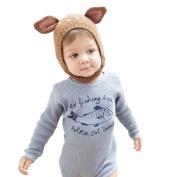 Toddler Winter Warm Hat ,Sunbona Infant Newborn Wool Warm Cute Pullover Knit Crochet Hairball Beanie Cap