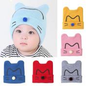 Toddler Cotton Hat ,Sunbona Infant Newborn Keep Warm Cute Cat Cotton Knit Crochet Beanie Cap
