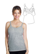 Essential Hands-Free Pump & Nurse all-in-one Nursing Tank with built in hands-free pumping bra - Heather Grey, L