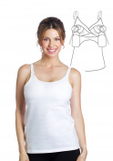 Essential Hands-Free Pump & Nurse all-in-one Nursing Tank with built in hands-free pumping bra - White, XL