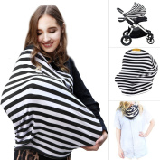 Multi Use Nursing Breastfeeding Cover Scarf | High Chair, Shopping Cart & Stroller Covers | Infinity Baby Carseat Canopy, Best Baby Shower Gifts For Girls and Boys