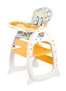 Evezo 2-in-1 High Chair Desk, Yellow