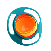 Siavicky Gyro Bowl-Spill Resistant Kids Gyroscopic Bowl with Lid Smooth 360 Degrees Rotation For Children Of All Ages