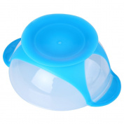 Baby Bright Colour Babies Skidproof Bowl With Suction Cup Assist Temperature Sensing Spoon 3pcs