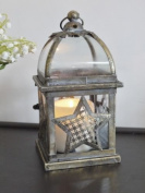 French Antique Moroccan Garden Candle Hurricane Lantern Lamp Holder Large 22cm