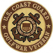 US Coast Guard Gulf War Veteran (Desert) Embroidered Iron-On Patch 3