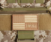 X.Sem Mud I Love M4 USA American Flag Patch - 2 Pack Tactical Patches Embroidery Morale Emblem