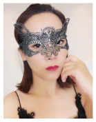 Lace Eye Mask Masquerade Costume - Sexy Party Prom Ball Halloween Black Womens Girls Soft & Changable Shape