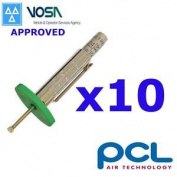 10 X Pcl Vosa Approved Tyre Tread Depth Gauge Motorbike Truck Car Tyre Cheque
