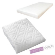 Quilted Baby Cot Mattress Fully Breathable 120 X 60 X 5 Cm Cover Only