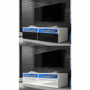 Foxhunter Modern High Gloss Matt Tv Cabinet Unit Stand Blue Led Light Tvc04 New