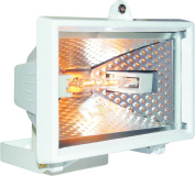 Byron Hl120w 120w Halogen Floodlight - White