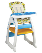 Foxhunter Baby Highchair Infant High Feeding Seat 3in1 Table Chair Orange New