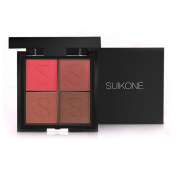 4 Colours Warterproof Eyeshadow Palette - Most Famous Shiny & Smoky Natrual Make up Eye shadow - Eye Mineral Powder kit
