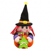 Misaky Halloween Dolls Plush Pumpkin Girl Kids Toy Birthday Gift Home Decor