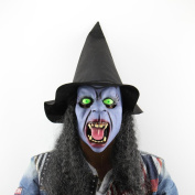 Halloween Mask, Misaky Fang Hat Witch Mask Scared Headgear Festival Dance Party With Hair