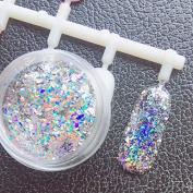 Major Dijit 0.2g/Box Galaxy Holographic Nail Glitter Laser Holo Nail Sequins Paillettes Powder Nail Glitter Dust