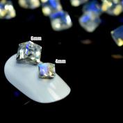 25pcs Cube Square Nail Crystal Stones Transparent Design Glass Rhinestones 3D Nail Art Charms Nail Tips Decoration