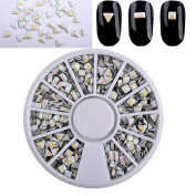 LinkinStar Mixed Design Nail Art Decoration Acrylic Tips Metal Slice Sticker Manicure Wheel