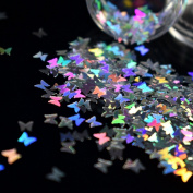 Splarkly Laser Butterfly Nail Sequin Acrylic Paillettes Holographic Nail Sparkle Glitter Sheets Tips Nail Art Decoration