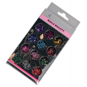 Fengshangmei 3D DIY Nail Art Design Flat Bottom Mix Colours Round Nail Decoration Rhinestones