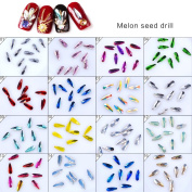 MEILINDS Nail Art 3D Diy Tear Drop Rhinestones Mixed Colour Waterdrop Diamond Crystal Glitter Accessories 100