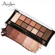 Eyeshadow Palette, Hunzed 12 Colours Cosmetic Powder Smoky Eyeshadow Beauty Cosmetic Makeup Set Matt Available