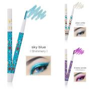 Eyeshadow Pencil, Hunzed 3 Colours Pro Highlighter Eyeshadow Pencil Beauty Cosmetic Glitter Eye Shadow Pen