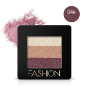 Eyeshadow , Hunzed 3 Colours Ladies Cosmetics Eye Shadow Neutral Nudes Warm Eyeshadow Palette Makeup