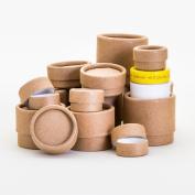 12 Piece Variety Pack | Kraft Paperboard Lip Balm/Salve/Cosmetic/Lotion Jars