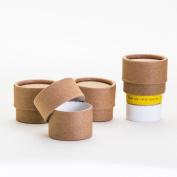 0.75 OZ / 22 mL Kraft Paperboard Lip Balm/Salve/Cosmetic/Lotion Jars x12