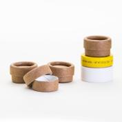 0.15 OZ / 4.5 mL Kraft Paperboard Lip Balm/Salve/Cosmetic/Lotion Jars x12
