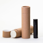 60ml Kraft Paperboard Lip Balm/Deodorant/Cosmetic/Lotion Tubes x12