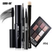 Makeup Kit , Hunzed Blusher Lip Gloss Shimmer Eyeshadow Palette Beauty Brush Cosmetic Set