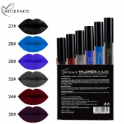 Hunzed Women 6Pcs Halloween Style Lip Lingerie Liquid Lipstick Matte Lip Gloss Waterproof Lipstick Cosmetic Makeup Set