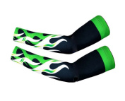 Ice Sleeves Summer Outdoors Sunscreen Gloves Ice Silk Sets,Green